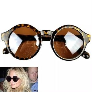 Accessories - Leopard Round Frame Sunglasses